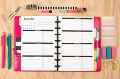Dated Weekly Horizontal Planner Insert