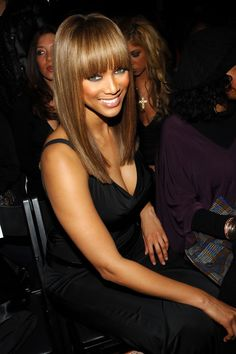 Stunning Tyra Banks ...  Snappy Hairstyles...   Banks is the creator and host of the UPN/The CW reality television show America's Next Top Model, co-creator of True Beauty, and was the host of her own talk show, The Tyra Banks Show.