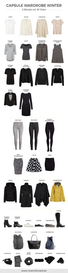 Capsule Wardrobe for the winter - Style - Modes Style Hippy, My Style, Winter Outfits, Casual Outfits, Minimal Wardrobe, Professional Wardrobe, Fashion Capsule, Capsule Clothing, Winter Mode