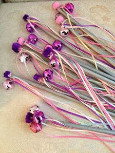 ~~Paper and Rose Creations~~Ribbon Wands for the Princess Party