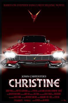 "Christine, by Stephen King. ""One of my favorites from the master of the horror… Christine, by Stephen King. ""One of my favorites from the master of the horror genre. Scary Movies, Old Movies, Vintage Movies, Great Movies, Comedy Movies, Poster Print, Poster S, Canvas Poster, Films Stephen King"