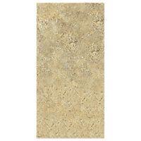 Upstairs bathroom shower:  Horizontal...Imperial Beige Tile 12 x 24 in