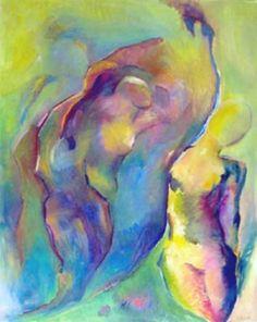 Naissance 80x100cm : peinture à l'huile sur toile