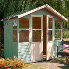 View our huge selection of summer houses ranging from budget models to high quality corner and octagonal summer houses. Wooden Summer House, Small Summer House, Summer Houses, Octagonal Summer House, Garden Structures, Outdoor Structures, Amazing Spaces, Farm Gardens, Houses