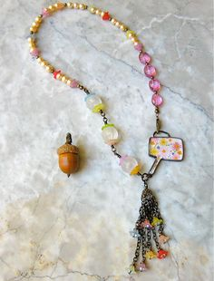 last bouquet of summer necklace  . . . by marthasrubyacorn on Etsy, $64.00