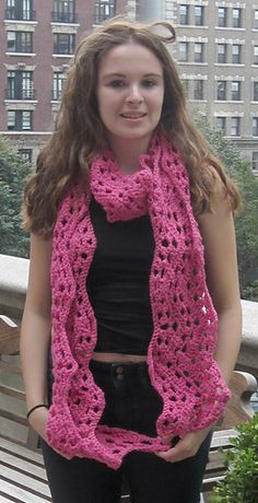 Wide Ripple Scarf, crochet pattern by Underground Crafter for sale on Ravelry