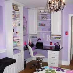 kid's room organizing teen organizing an fabulous color, great shelving and a cool chandelier
