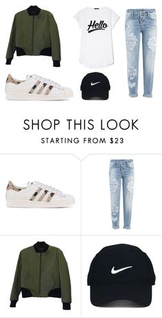 """""""Monday"""" by julietoft on Polyvore featuring adidas Originals, Dsquared2, rag & bone and Nike Golf"""