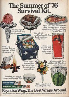 vintage Reynolds' advert. Summer of 76 Survival Kit.  image from  Calsidyrose on flickr