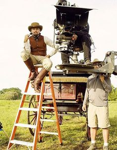 Dicaprio on the set of Django Unchained