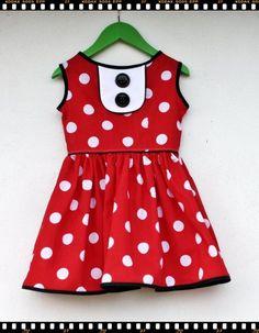 Minnie Mouse Dress! Adorable.