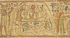 Geb | Geb et Nout sur le papyrus de Neskapashouty © Musée du Louvre