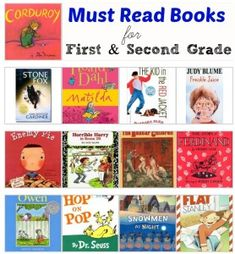 First and Second Grade Must Read Books.  There are so many of my favorites on that list!  #books #reading