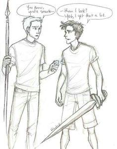 Percy Jackson and Jason Grace