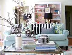 love the eclectic collections and colors
