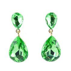 "Affordable Wedding Jewelry Peridot Green Austrian Crystal Teardrop 1.5"" Drop Gold Earrings Affordable Wedding Jewelry http://www.amazon.com/dp/B01B87YM7K/ref=cm_sw_r_pi_dp_.XNRwb1KDWJRN"