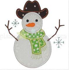 Cowboy Snowman Planet Applique