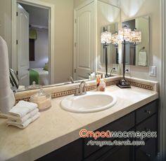 Мраморная столешница для ванной комнаты