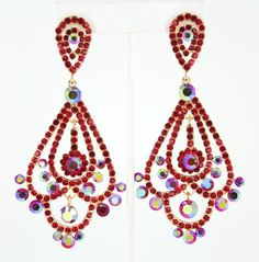 Red Chandelier Earrings  Like us on Facebook:  www.Facebook.com/LnMBling and visit our online store at www.LMBling.com Direct Link to Our Red Collection:  http://www.lmbling.com/#!red/cx7y #lmbling #lmblingearrngs #lmblingredearrings #lmblingstatementearrngs #pageantearrings #redpageantearrings #lmblingchandelierearrings #chunkyearrings #pageantjewelry