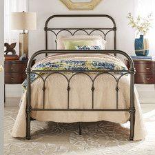 Pepperidge Metal Panel Twin Bed (Antique wrought iron look) by Trent Austin Design Home Bedroom, Bedroom Furniture, Master Bedroom, Bedroom Decor, Bedroom Ideas, Girls Bedroom, Farmhouse Furniture, Bedroom Inspo, Bedroom Inspiration