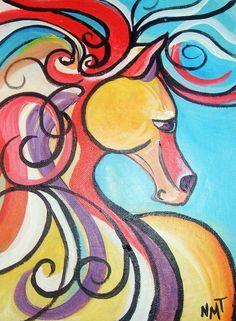 Vino and Canvas Equestrian Dreams