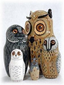Owl Russian Nesting Doll
