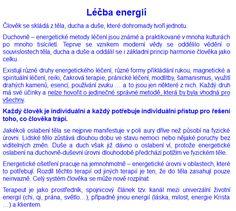 Léčeni energií