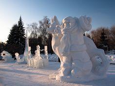 Snow sculpture in Novosibirsk | Flickr - Photo Sharing!