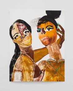 "Tschabalala Self, Girlfriends, 2013, 24"" x 30"" Self,  Oil and gouache on paper http://tschabalalaself.com/ http://tschabalala.tumblr.com/ tschabalala@gmail.com"