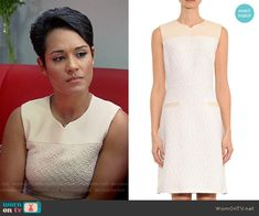 Anika's boucle panel dress on Empire.  Outfit Details: http://wornontv.net/54197/ #Empire