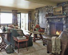 Rustic & cozy living room