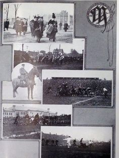 A full page of Homecoming photos from the 1914 Gopher yearbook shows fans and game action. Minnesota defeated Wisconsin 14-3.