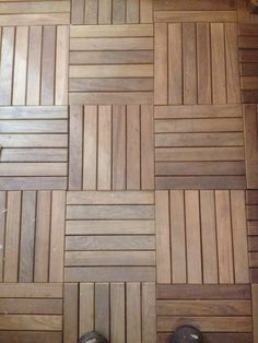 Teak floor tiles out of a sauna.