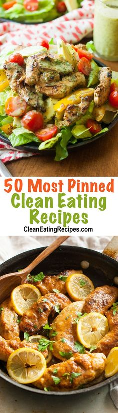 I love how all of these Clean Eating recipes have been pinned 10,000 times on a single pin or 50,000 times total. There are some REALLY good looking ideas!