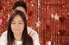 "This is Kathryn messing up Daniel Padilla's hair during the recording of the 2015 ABS-CBN Christmas station ID theme song, ""Thank You for the Love!"" They're just only having a good fun time. ""Pero, kinakalkal, pinaglalaruan, at ginugulo lang ni Kathryn ang buhok at hairstyle ni Daniel."" :-) 😊 LOL. #KathNiel #KathNielBernaDilla #ABSCBNChristmasStationID #ABSCBN #ThankYoufortheLove #messinguphair"