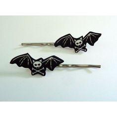 Posiez (etsy) Skelebat Plastic Hair Pins