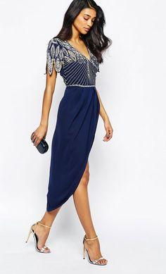 49a14c8897 Kleider für Hochzeitsgäste  Kleid mit betonten Schultern Virgos Lounge