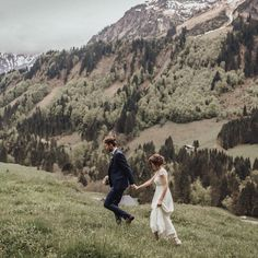 Their wedding venue was a historic hunting cottage in the middle of Austrian nowhere, offering this stunner of a view. They celebrated their marriage with 45 of their closest people and their free ceremony was held by one of their best friends ❤️ #weddinggoals . . . . . #weddinginspiration #bridal #weddingdress #instabride #bohobride #fpme #mountainwedding #outdoorwedding #weddinginspiration #weddingdress  #adventure #exploretocreate #bohowedding #lovellope #elopement #elopementphotographer…