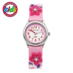 JACQUES FAREL Kids Children watches fashion cute simple waterproof Quartz Wristwatches fly red