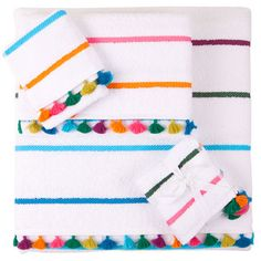 These Tassel Trim Towels from ZaraHome are a great way to bring a dose of color into your bathroom
