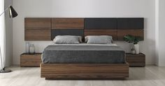 Loto bed by Mobenia D&R - Mobenia Home Bed Headboard Design, Bedroom Bed Design, Modern Bedroom Decor, Bedroom Furniture Design, Headboards For Beds, Bed Furniture, Bedroom Cupboard Designs, Living Room Designs, Double Bed Designs