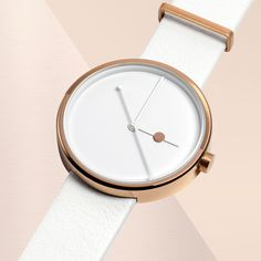 The dual tone plating on the Eclipse by Australian brand AÃRK is inspired by night and day and the moon's movement in relation to the earth and the sun. #watches #rosegold #design