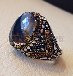 Cadeau unique Cheval œil Forme Ovale Cut Ocean Blue Topaz silver woman ring Taille 6-10