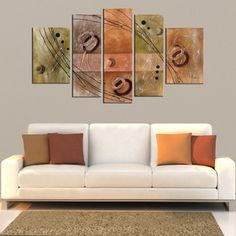Hand-painted Oil on Canvas Wall Decoration 5-piece Art Set | Overstock™ Shopping - Top Rated Canvas