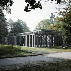 Eberswalde, Germany Cafeteria Of The Center Of Authorities Max Dudler Architekt Box Architecture, North Europe, Construction, Pavilion, Dublin, Facades, Cottage, Layout, Exterior