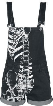 - Short dungarees - Front print - Adjustable braces - Side button panel - Two front slit pockets - Two back pockets The Wishbone Overalls by Iron Fist grant a special insight into your inner self. The skeleton print on one side of these laid-back dungarees is a creative study in anatomy. A sight that will chill you to the bone!