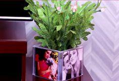 Ötletes Blog: CD tokból fényképes virágtartó
