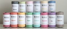 Bakers Twine 240 yard spool COLOR of YOUR CHOICE from The Twinery by shoppe3130 on Etsy https://www.etsy.com/listing/99846055/bakers-twine-240-yard-spool-color-of