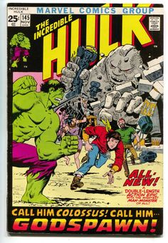 Incredible Hulk 145 1st Series Marvel 1971 VF Origin Herb Trimpe Roy Thomas