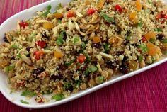 Your daily Metro recipe from Rose Reisman. Moroccan Couscous, Cranberry Almond, Couscous Recipes, Vegetarian Entrees, Bean Recipes, Cranberries, Almonds, Fried Rice, Side Dishes